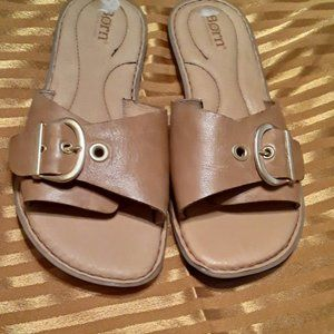 Born - Haiki Leather Slides Sandal.